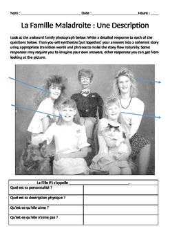 French Family Description Writing Assignment