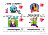 French Family J'aime Ma Famille 2 Emergent Reader Booklets