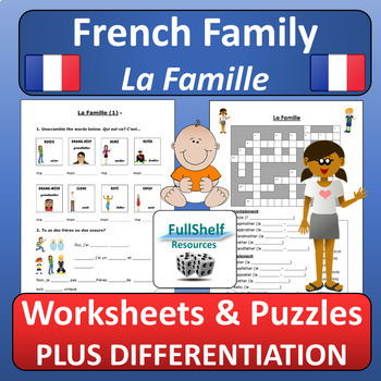 French Family Worksheets
