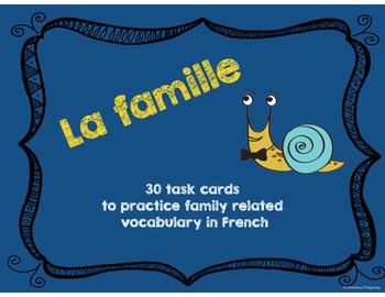 French Family / La famille - 30 Task Cards