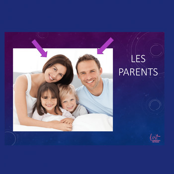 French Family La famille PowerPoint and Interactive Notebook Activity