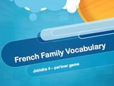 French Family Member Vocabulary Game - Connect 4