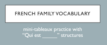 French Family Member Vocabulary - Qui est....? review