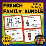 French Family Members, French Boom Cards, French Digital Flashcards, La famille
