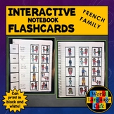 French Family Members Flashcards, Interactive Notebook Fla