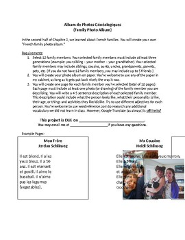 French Family Photo Album Project and Rubric