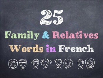 French Family & Relatives Words PowerPoint