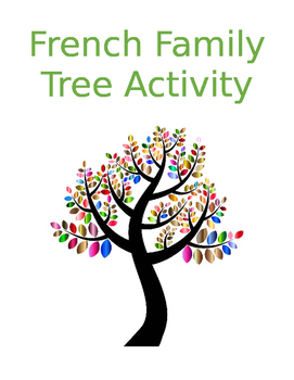 FSL Family Tree Activity -- French Possessive Adjectives and Family Vocabulary