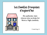 French Family Vocabulary: Authentic Interpretive Reading Activity