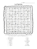 French Family Word Search - Mots mêlés, la famille