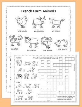 French Farm Animal Puzzles - les animaux de la ferme