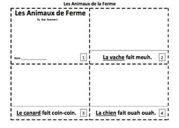 French Farm Animals 2 Emergent Reader Booklets