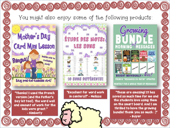 French Farm Mini Reader, Vocabulary Cards & Reading Assessment