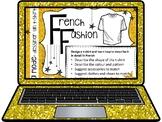 French, Fashion (design your own t-shirt): Presentation