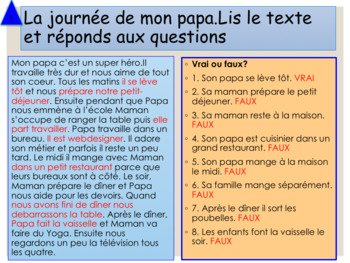 French Father's day, fête des pères PPT for beginners/pre-intermediate