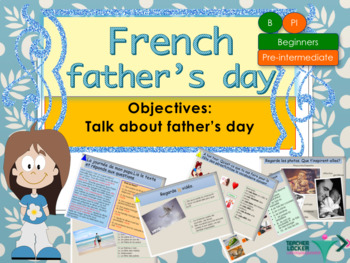 French Father's day, fête des pères : full interactive activities and printables