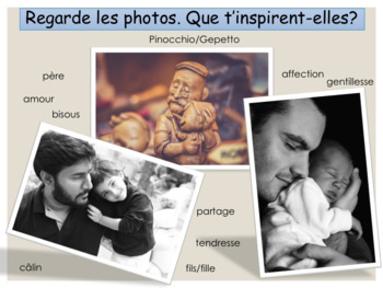 French Father's day, fête des pères : interactive activities
