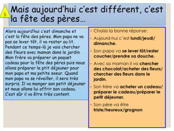 French Father's day, fête des pères : interactive activities