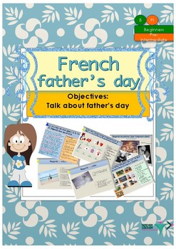 French Father's day, la fête des pères booklet for beginners/pre-intermediate
