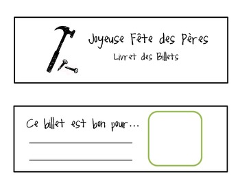 French Father's Day coupon book