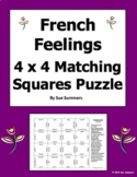French Feelings 4 x 4 Matching Squares Puzzle