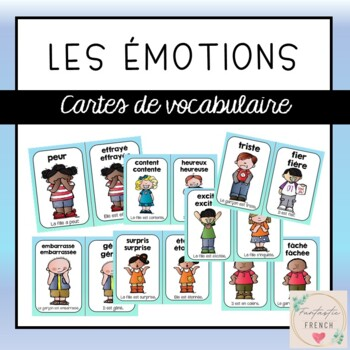 French Feelings Emotions Mini Posters (Les sentiments)