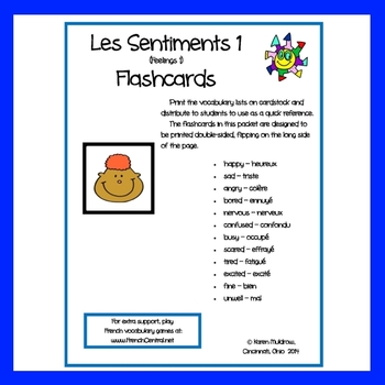 French - Feelings1 Flashcards