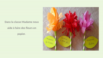 French: Reading: Fête des mères, lecture, PRIMAIRE