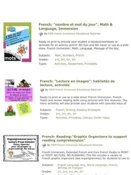 """French: """"Fiche de vérification de lecture"""": PRIM, Stratégies de lecture, FREE"""