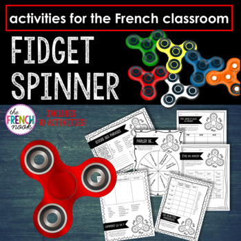 French Fidget Spinner Activities for the Classroom