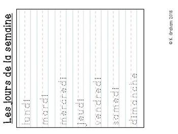 French File Folder Activity Package (Les couleurs, les nombres, les mois)