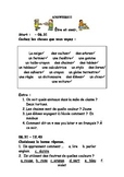 French Teaching Resources: Short Worksheet: classroom vocabulary: Être et avoir.