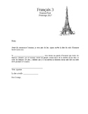 French Final Exam (level three)