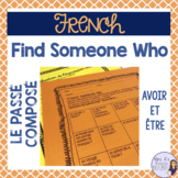 French speaking activity PASSÉ COMPOSÉ FIND SOMEONE WHO