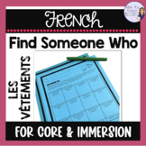 French speaking activity - French Find someone who...cloth