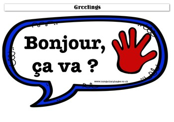 French First Conversation Noticeboard Cards