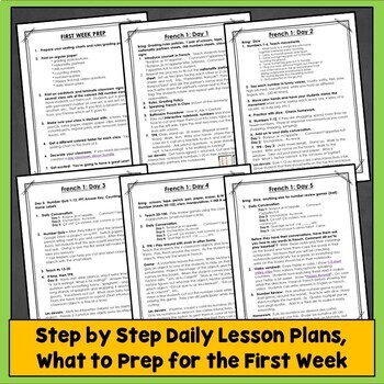 French First Day of School Activities, French First Week Activities