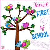 French First Day of School Posters