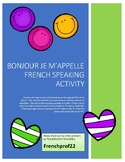 French First Day of School Speaking Activity