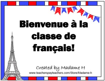 French First Days of Class Flip Book