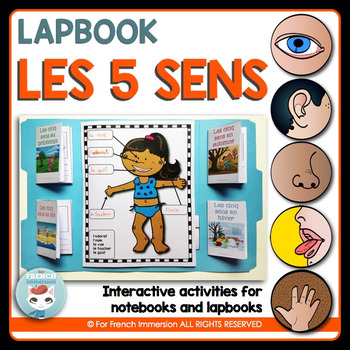 French Five Senses Lapbook | Les cinq sens