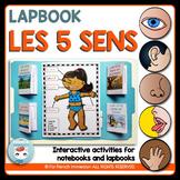 French Five Senses Lapbook | Les 5 sens | Activité en français (cinq sens)