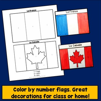 French Flag, Canadian Flag, Photos, Facts, Video Clips, Francophone Countries