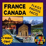 French Flag, Canadian Flag, Photos, Video Clips, Facts, Fr