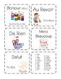 French Flash Cards- Set 1