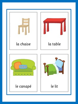 Monster image for printable french flashcards