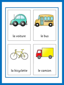 French Flash Cards Basic Vocabulary by little helper   TpT