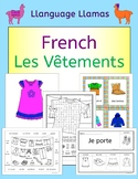 French Clothing - Les Vetements - Activities puzzles games