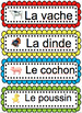 French Flashcards AND Word Wall - LES ANIMAUX