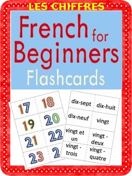 graphic about Printable French Flashcards named French Flashcards - LES CHIFFRES